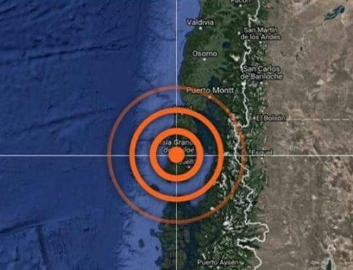 Fuerte sismo se registra en Chiloé, alcanzó VI en la escala mercalli
