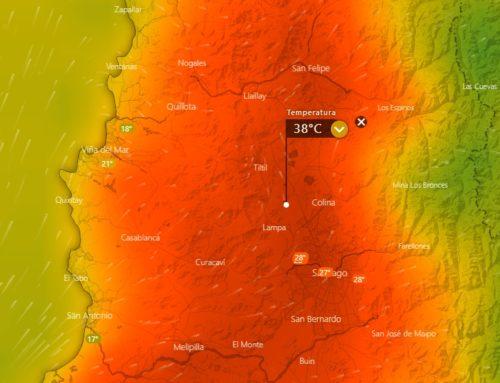Ola de calor afectará a Chile con temperaturas máximas de 38°