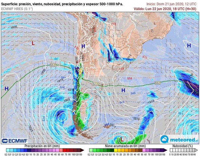 Noticias Chile   Sistema frontal aproxima a Santiago y dejará 20 milímetros en la capital