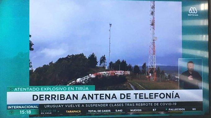 Noticias Chile | Fiscalía confirma que carabineros tardaron cerca de 12 horas en informar sobre supuesto ataque a antena en Tirúa
