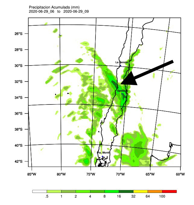 Noticias Chile | temporal ingresará a la zona central de Chile , se esperan hasta 25 milímetros de agua caída