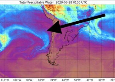 Noticias Chile | Río atmosférico dejará un evento extremo de precipitaciones en la V, VI y RM este lunes