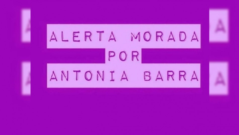 Noticias Chile | Se activa la alerta morada por caso de Antonia Barra | INFORMADORCHILE