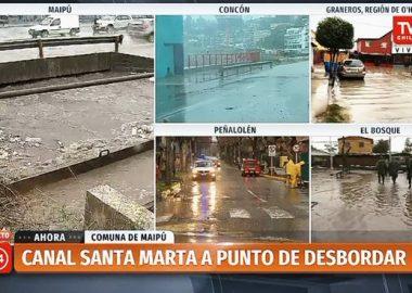 Noticias Chile   Maipú canal Santa Marta a punto de desbordarse