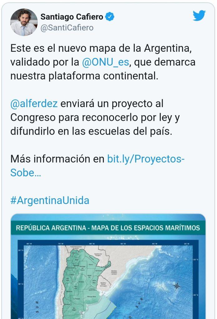 Noticias Chile | Argentina publica nuevo mapa adueñándose del territorio chileno en la Antártica
