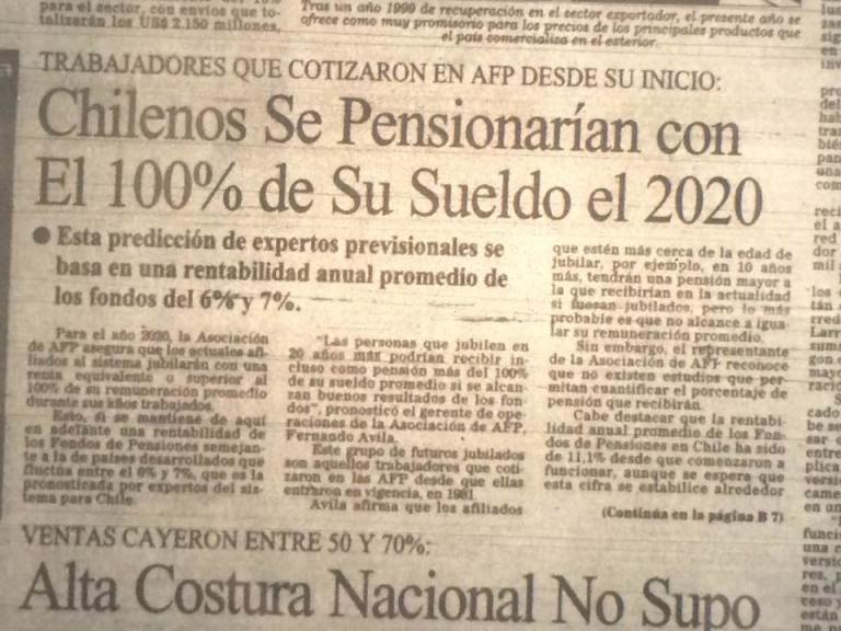 Noticias Chile   Así las AFP promocionaban un futuro mejor en los años 80 y 90   INFORMADORCHILE