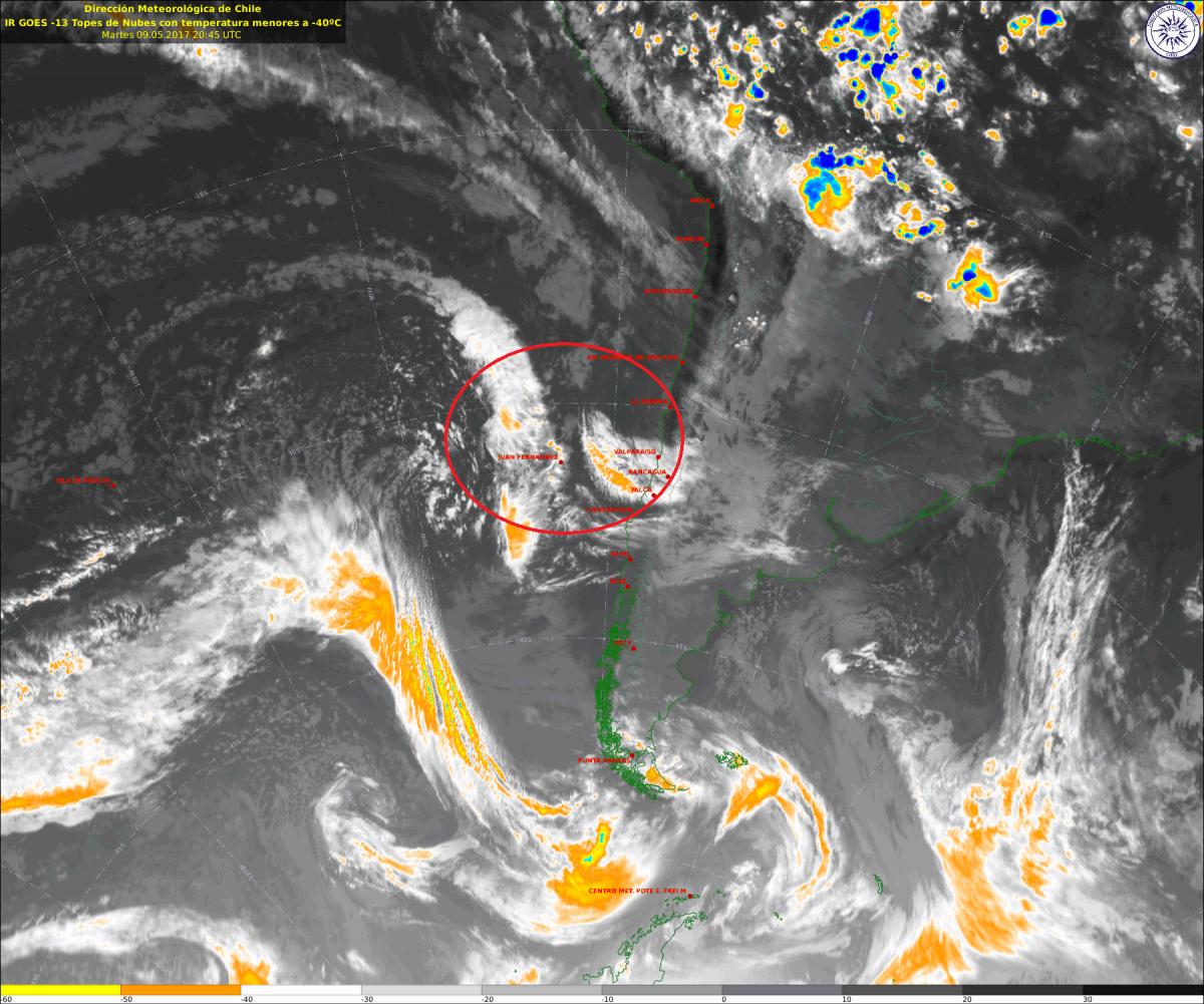 Noticias Chile | Sistema frontal dejará intensas precipitaciones en la capital durante este sábado