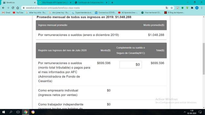 Noticias Chile   Gobierno anuncia que buscará a las 200 mil personas que pusieron 0 para tener bono