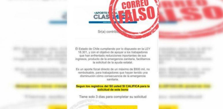 Noticias Chile | SII emite una alerta por peligroso correo electrónico que busca estafar a la población por el bono de $500 mil | INFORMADORCHILE