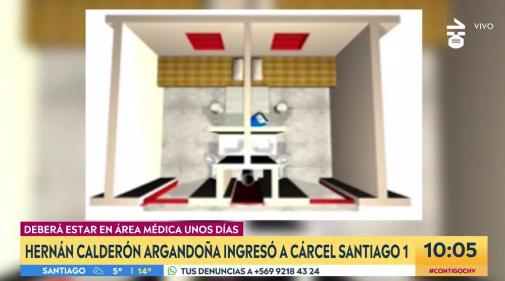 Noticias Chile | Nano Calderón quedó recluido en celda de 3×2 metros, con derecho a desayuno, almuerzo y once