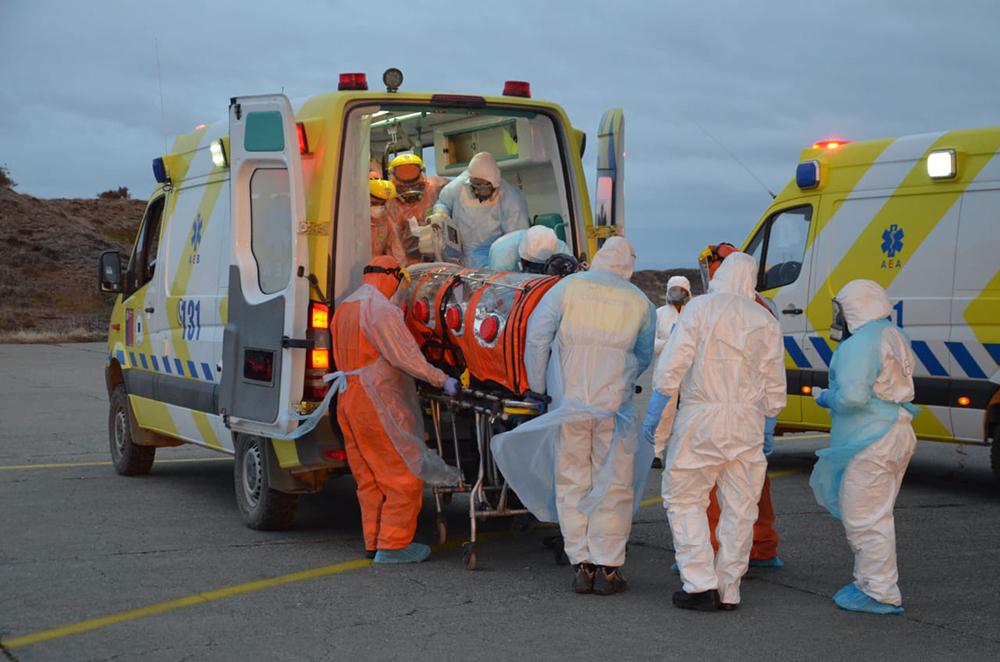 Noticias Chile | Fach comienza a trasladar pacientes críticos desde Punta Arenas, ante segunda ola de contagios peor que la primera
