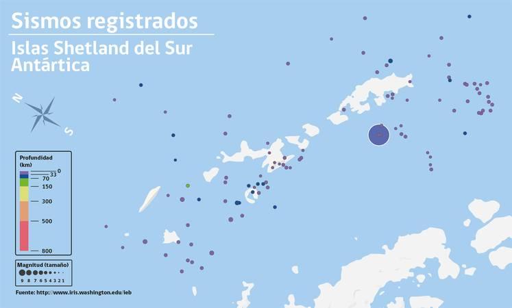 Noticias Chile | Continúan los sismos al norte de la Base Prat en la Antártica Chilena, varios sensibles por la población | INFORMADORCHILE