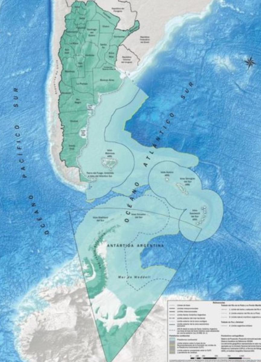 Noticias Chile | Argentina comienza a difundir nuevo mapa, adueñandose de Las Malvinas y territorio Antártico Chileno