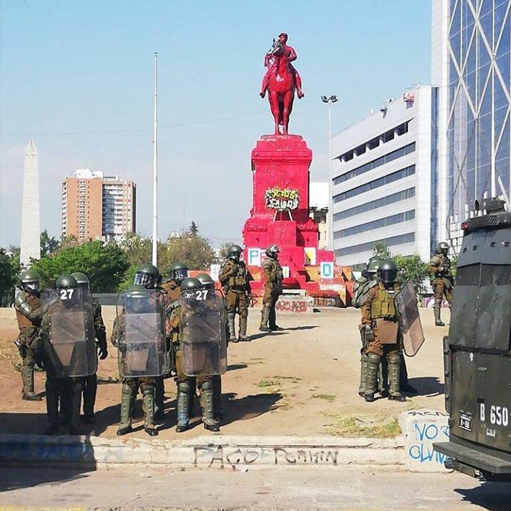 Noticias Chile | Ejército de Chile indignado por vandalización de el General Baquedano