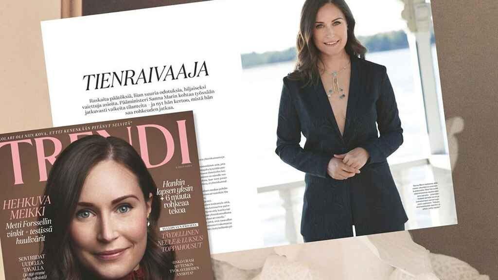 Noticias | Primera Ministra de Finlandia ha sido objeto de críticas machistas por posar para una revista con escote