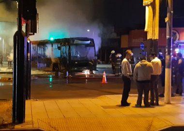 Noticias Chile | Bus del Transantiago se quemó por completo en PAC