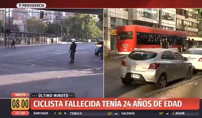 Noticias Chile | Joven ciclista muere atropellada por bus transantiago en Providencia