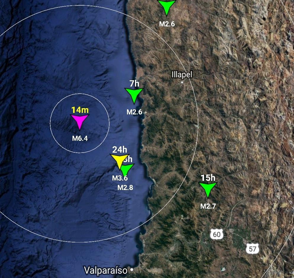 Noticias Chile | Fuerte sismo 6.4 sacude a la zona central, epicentro Los Vilos