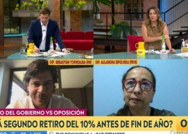 Noticias Chile   Julio César Rodríguez encaró al diputado RN Sebastián Torrealba, debido a que su mujer es accionista de una AFP