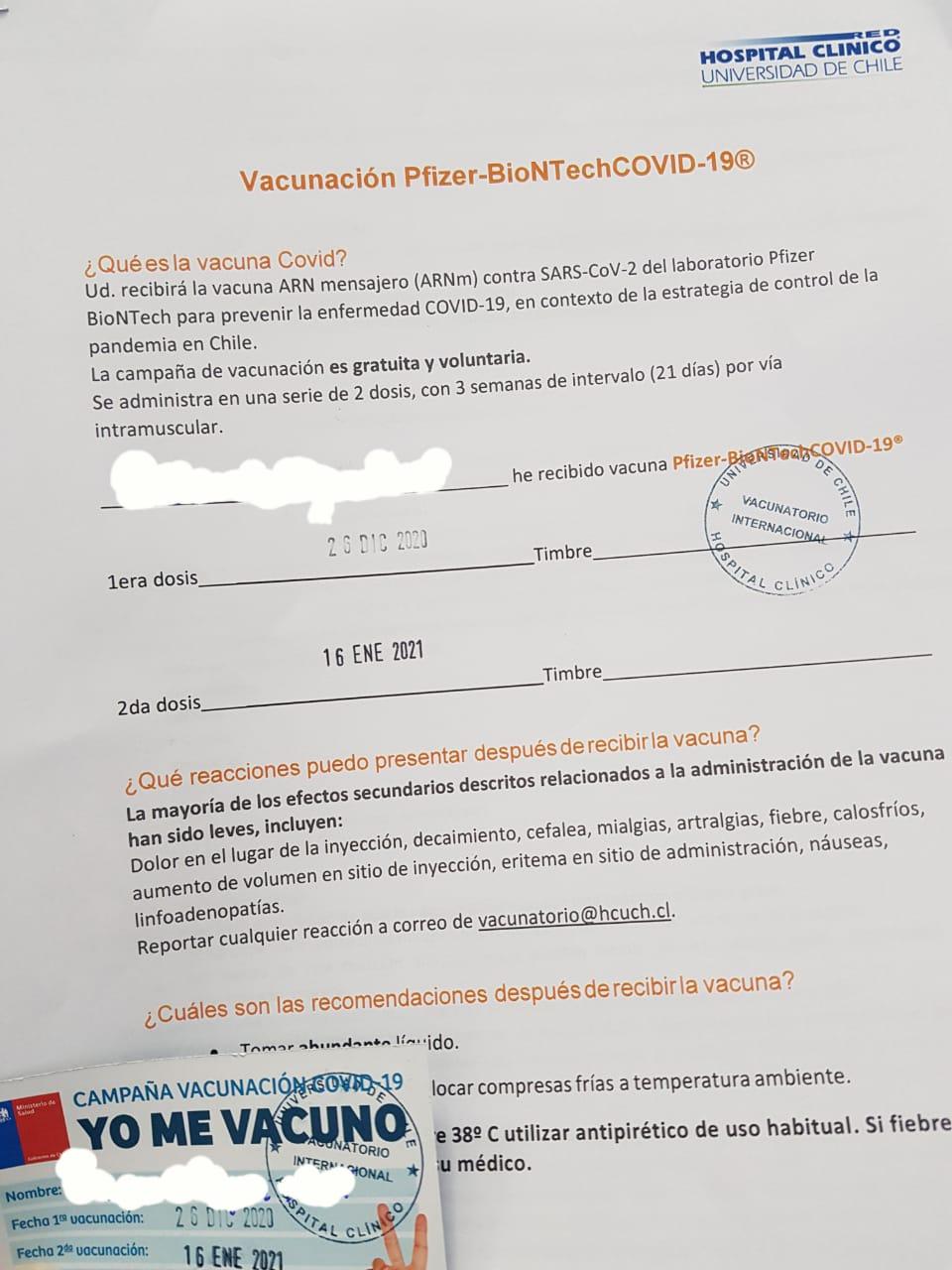 Noticias Chile | Más de cinco mil funcionarios de salud han sido vacunados contra el covid-19