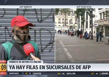"""Noticias Chile   Chileno llegó a las 5 de la mañana a sucursal de AFP: """"No tengo internet para sacar mi dinero """""""