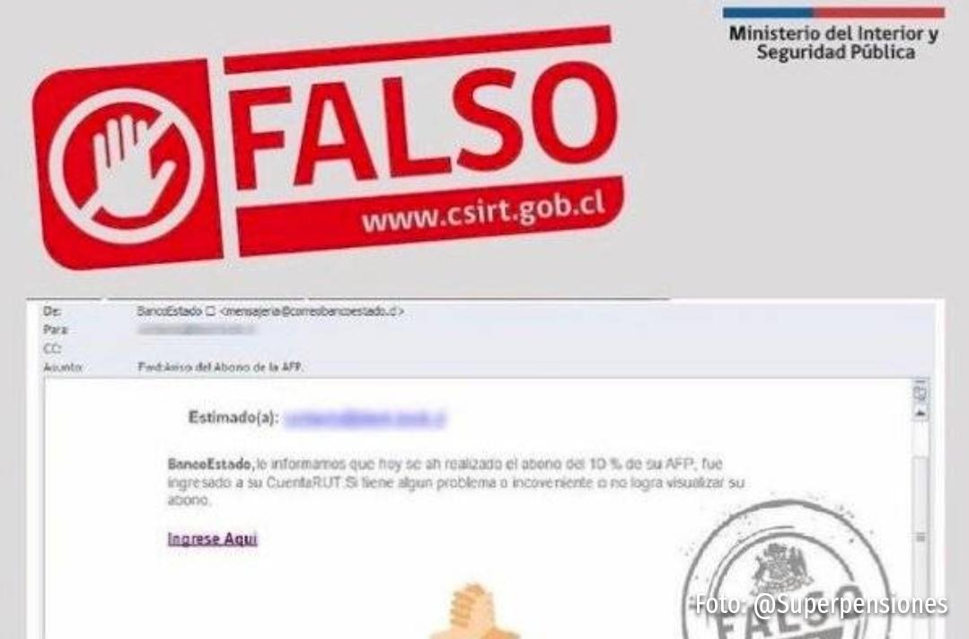 Noticias Chile | Banco Estado alerta de correo fraudulento que busca robar tu dinero