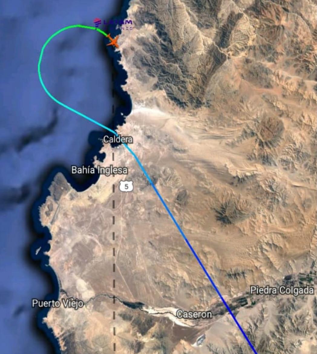 Noticias Chile | Se activa protocolo de aviso de bomba en avión La147 procedente de Calama