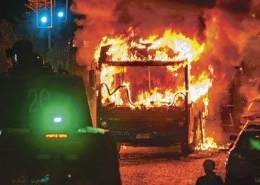 Noticias Chile | Cuatro buses red fueron quemados por delincuentes el día de ayer