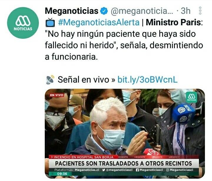 Noticias Chile | Acusan a Rodrigo Sepúlveda  de alarmar a la población en cobertura de incendio de Hospital San Borja