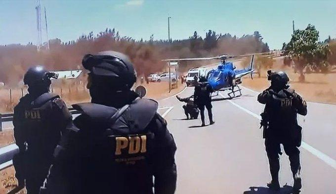 Noticias Chile | Gigantesco operativo antidrogas dejó tres detectives baleados en La Araucanía , se reporta uno en riesgo vital