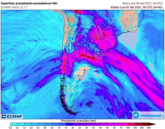 Noticias Chile | Sistema frontal dejaría hasta 20 milímetros de agua caída en Santiago y en cordillera de San Fernando cerca de 90 mm