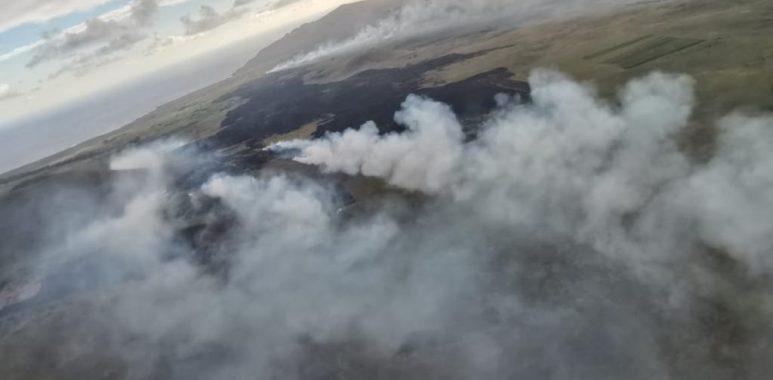 Noticias Chile   Gigantesco incendio forestal consume 500 hectáreas de flora en Rapa Nui, hay riesgo arqueológico