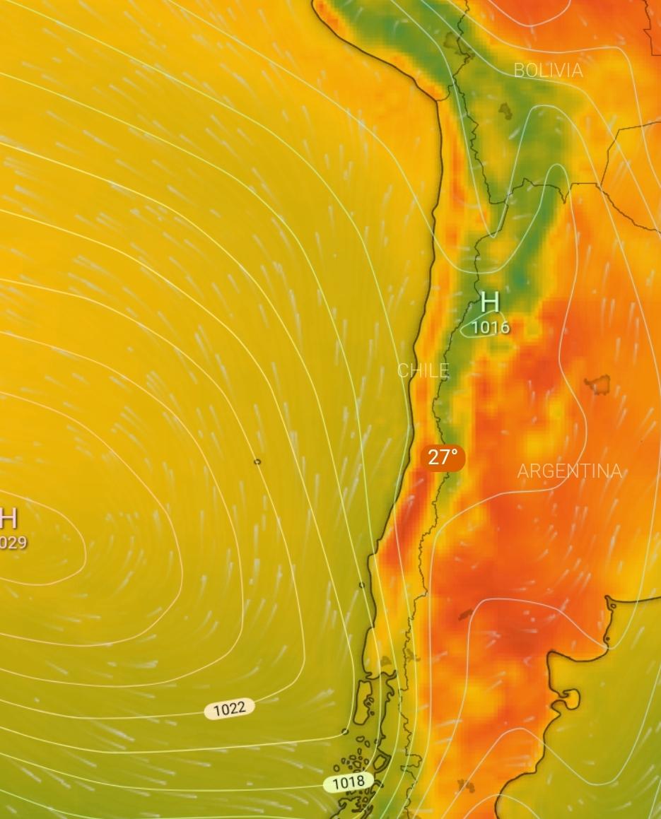 Noticias Chile | Ola de calor afectará desde la región de Valparaíso hasta el Bío  Bío, con temperaturas de hasta 35°c