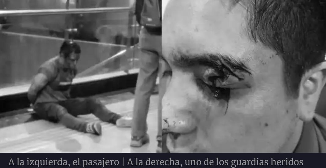Noticias Chile   Sujeto acuchilló a guardia  de metro porque iba atrasado