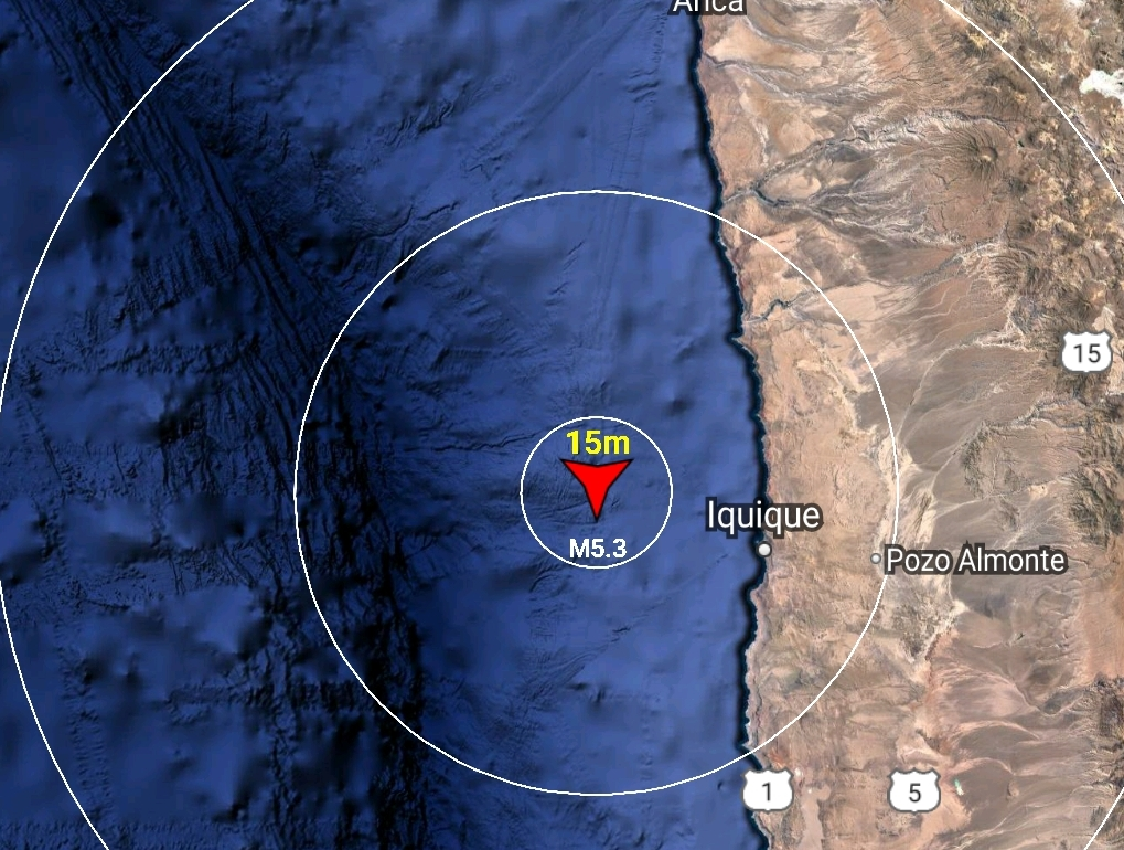 Noticias Chile    Sismo se registra en el norte de Chile