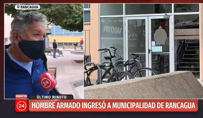 Noticias Chile | Adulto mayor amenazó a alcalde de Rancagua con arma por no tener salud digna