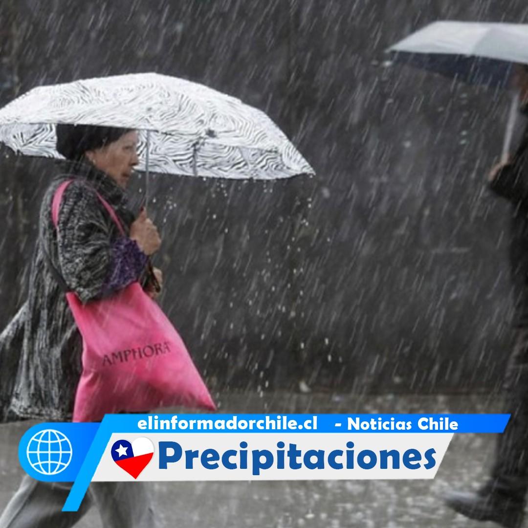 Noticias Chile - Intensas precipitaciones en la capital, debido a la llegada de sistema frontal