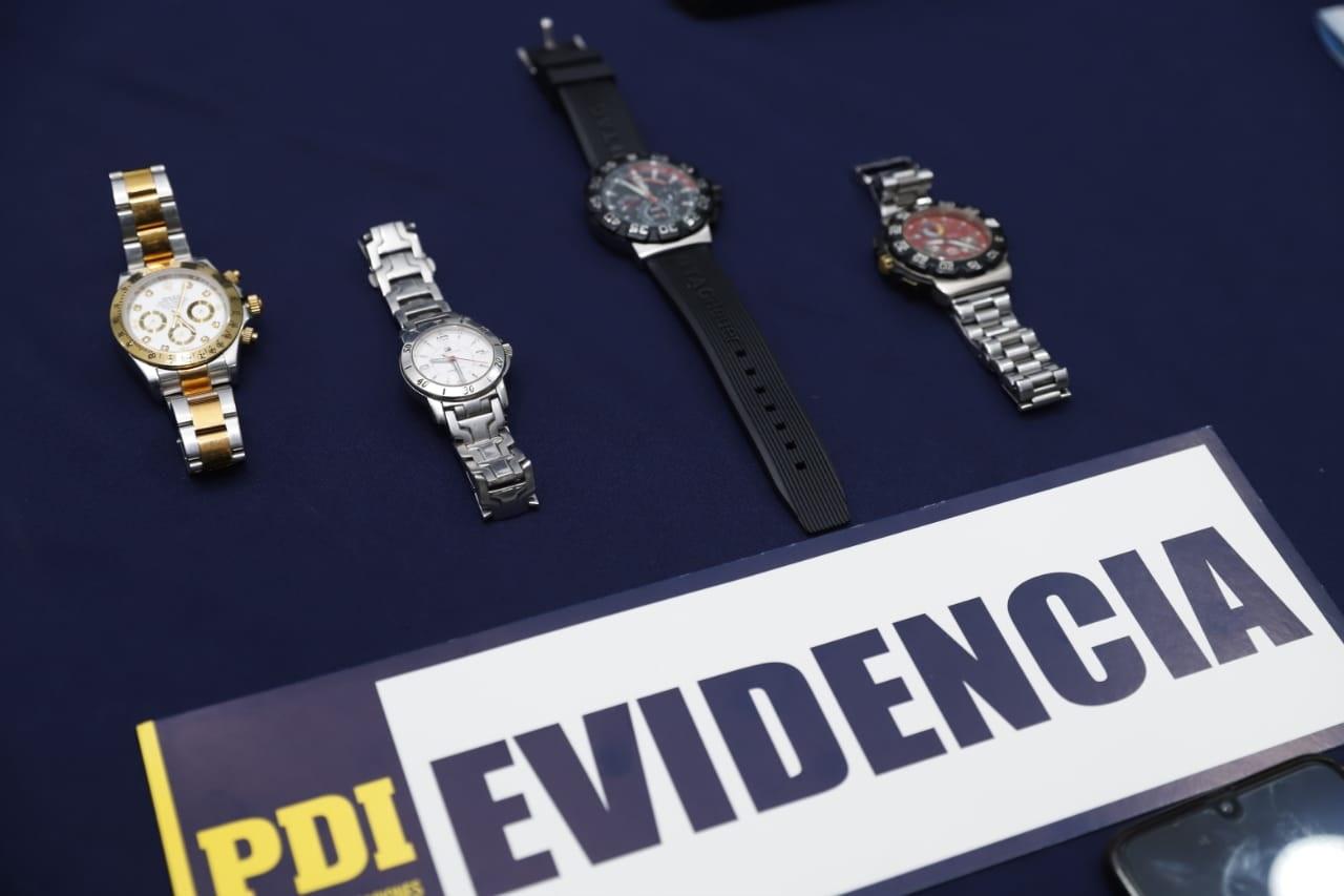 Ministerio Público investiga a  banda internacional de delincuentes que se dedica al tráfico de joyas y relojes de lujo en nuestro país